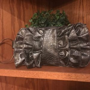 Handbags - Grey bow clutch